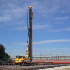Underpass Construction with Vertical Piling Rig
