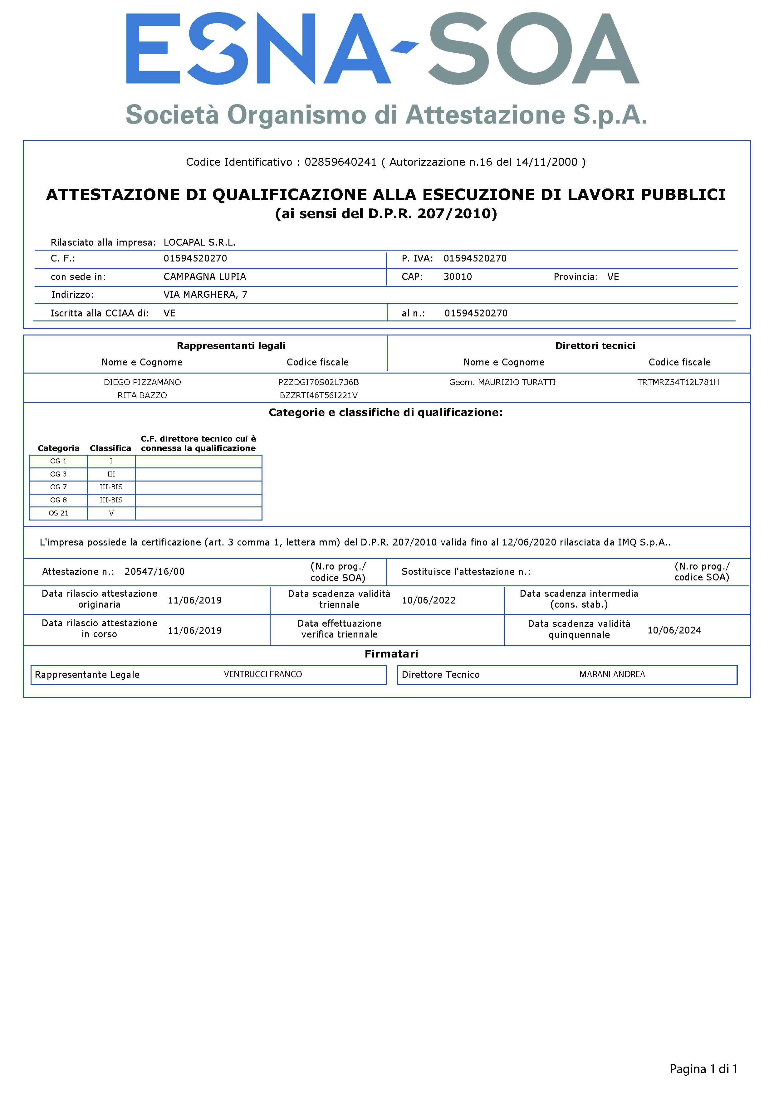 LOCAPAL-Attestato-SOA